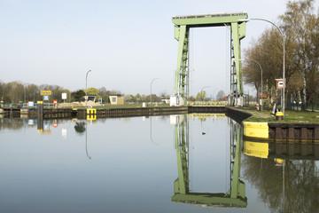 Kanalschleuse im Wesel-Datteln-Kanal, Datteln, NRW, Deutschland