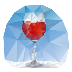 wine glass polygonal