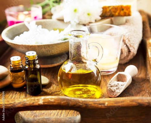 Fotobehang Olijfboom Olive Oil Spa Therapy