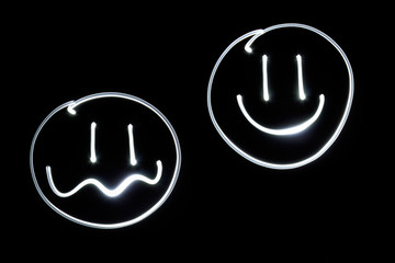 Lichtmalerei Smileys