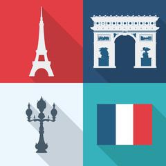 Paris design, vector illustration.