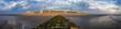 Leinwanddruck Bild - Norderney Panorama am Strand