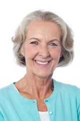 Close up of mature woman smiling