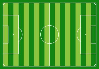 Campo da calcio a righe