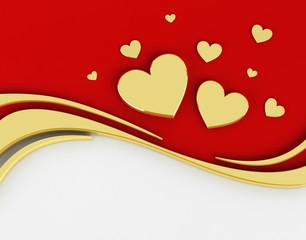 3D Background Valentine's Day