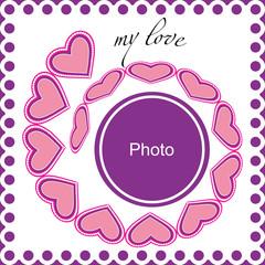 Vector romantic photo frame