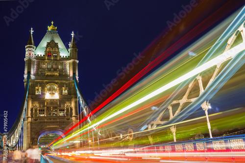 Fototapeta Tower Bridge bei Nacht