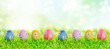 Leinwanddruck Bild - colourful easter eggs