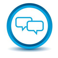 Blue dialog icon