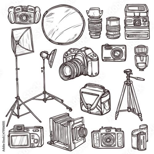 Camera Icons Set - 79106005