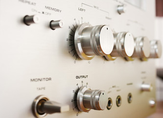 control panel cassete recorder closeup