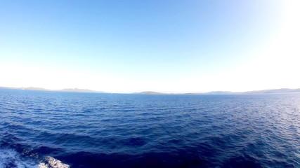 Sailing blue sea