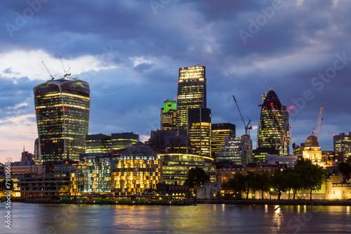 Fototapeta London bei Nacht