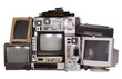 Leinwanddruck Bild - Old, used and obsolete electronic equipment