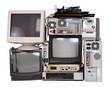 Leinwandbild Motiv Old, used and obsolete electronic equipment