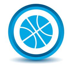 Blue basketball icon