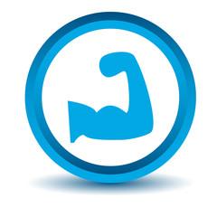 Blue strength icon