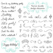 Vector doodle vintage design elements set