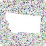 Map of Montana - USA - into a square icon