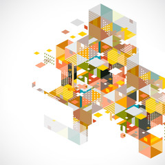 Abstract colorful and creative geometric template and space