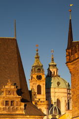 Sunrise on Charles Bridge in Prague
