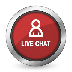 live chat red icon