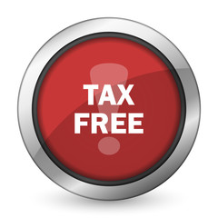 tax free red icon