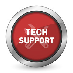 technical support red icon