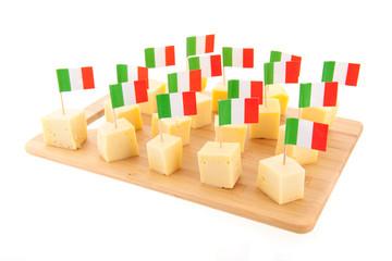 Italian cheese cubes