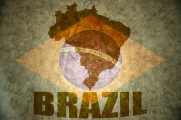 brazil vintage  map