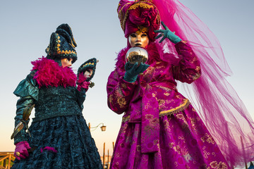 Two masks posing