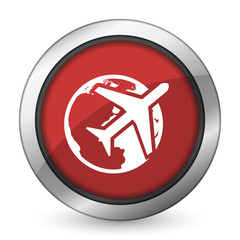 travel red icon
