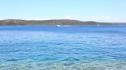 Blue sea coastline