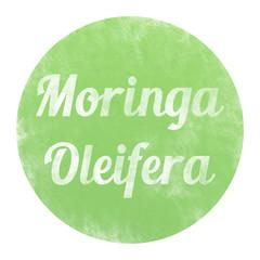 bg78 ButtonGrafik - Moringa oleifera Button Kreideeffekt - g3327