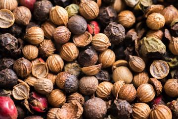 Pepper macro berries - closeup background texture