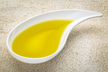 olive oil in small side dish bowl