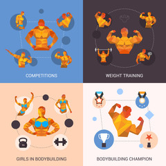 Bodybuilding Polygonal Set