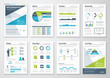 Green and blue modern infographic brochure vector elements