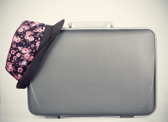 Retro styled hat and baggage