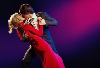 Elegant couple in the dance of love
