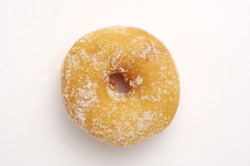Sugar Ring Donut Isolated on White Background