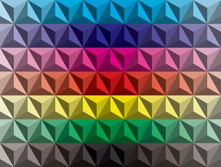 low poly pyramids gradient