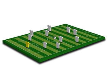 Formazione squadra in campo 3D