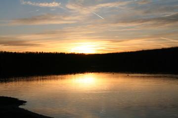 Wunderschöner Abend am See