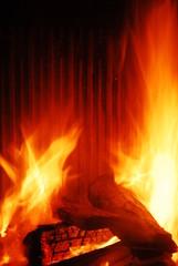 la legna che arde