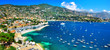 Leinwandbild Motiv azure coast of France - panoramic view of Nice