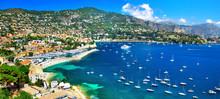 """Постер, картина, фотообои """"azure coast of France - panoramic view of Nice"""""""