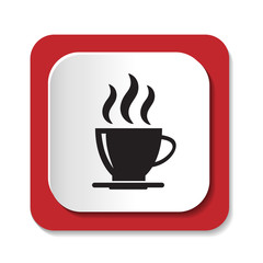 Векторный значок с чашкой кофе