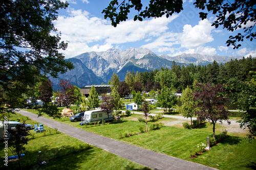 Fotobehang Kamperen Campingplatz