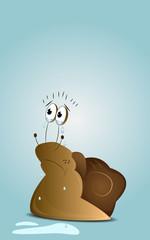 Cartoon crying snail